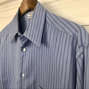 Giorgio Armani Mens Dress Shirt Button Front Shirt
